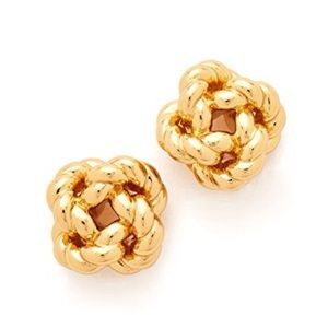 TORY BURCH • Gold Love Knot Earrings